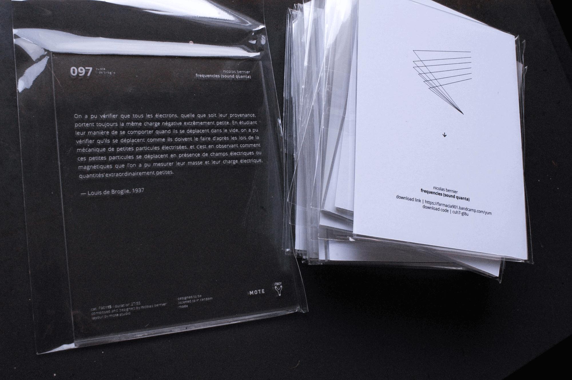 901 editions › Nicolas Bernier — frequencies (sound quanta)