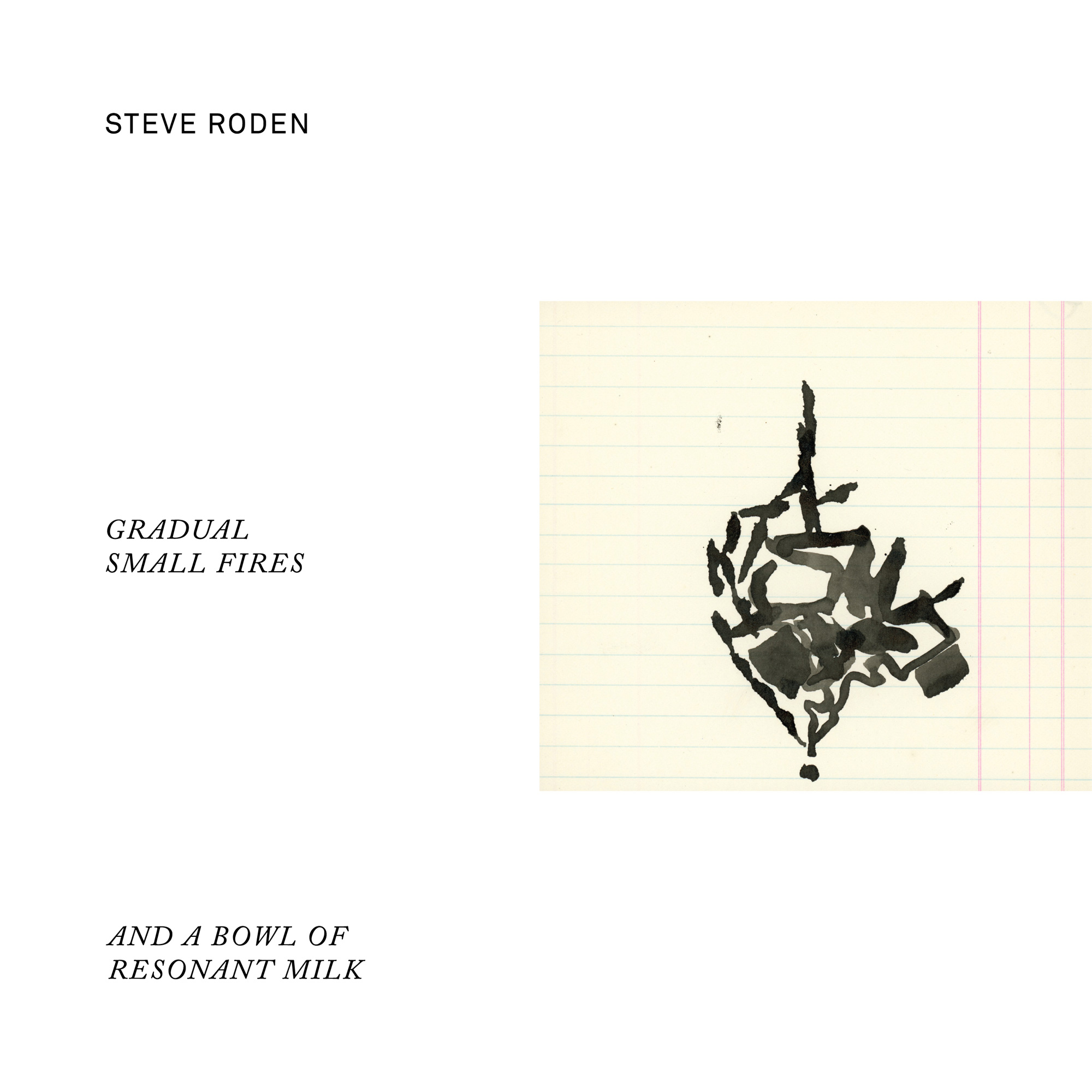 Steve Roden — Gradual Small Fires (And A Bowl Of Resonant Milk)